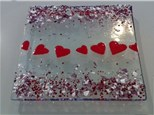 Fused Glass Valentine's Dish