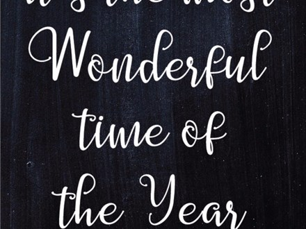 """""""It's the Most Wonderful Time of the Year"""" Board Art"""