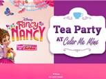 Jun 30th • Fancy Nancy Tea Party • Color Me Mine Aurora