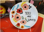 You Are Loved Hand Painted Plate