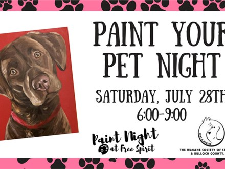 Paint Your Pet Night, July 28th