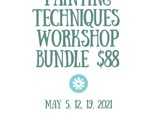 Pottery Painting Techniques - MAY 2021 - ALL 3 CLASSES  $88 + tax