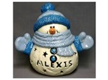 """order a small light-up carved (9"""") snuggles snowman"""