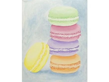 """""""Macaroons"""" Canvas Class, September 26th"""