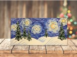 """""""Snow Covered Starry Night"""" Canvas Class ages 8 & up 12/2/20"""