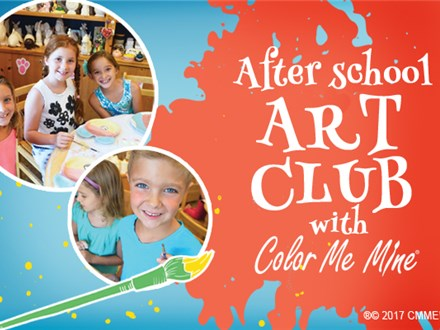 ART CLUB FOR KIDS AT COLOR ME MINE