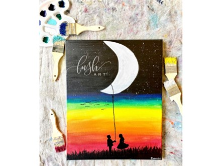 Rope the Moon Paint Class