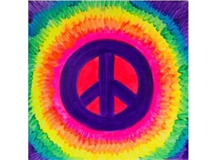 Kids' Canvas Class!  Neon Peace! 7/23/16