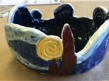 Clay Hand Building - Starry Night Yarn Bowl - 01.06.18