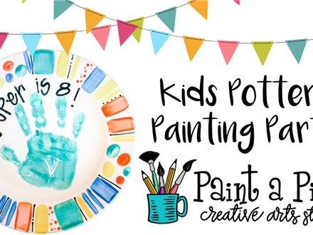 New Kids Pottery Painting Party!