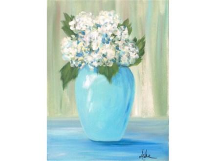 Hydrangea's - 12x16 canvas