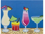 Stacey's Color Me Wine - It's 5 O' Clock Somewhere Canvas