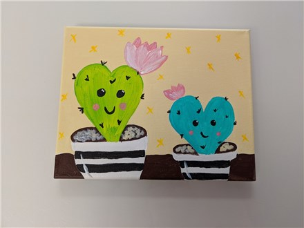 Cactus Love Mommy & Me Canvas Class $40 (age 4 and up)