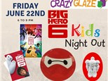 Ticket for Crazy Glaze Studio's Kids Night Out June 22nd