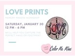 Memory Makers: Love Heart Prints - January 30