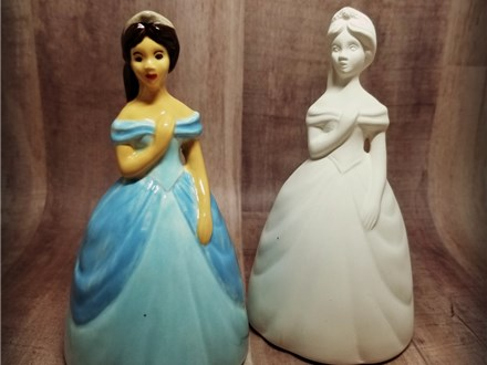 Our traditional princess figurine - ready to paint with your favorite colors!