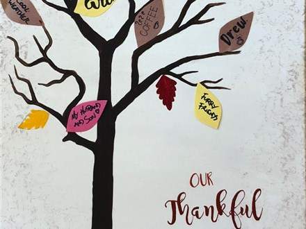 Adult Canvas - Our Thankful Tree - 11.11.18