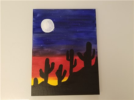 Tucson Sunset Canvas Class $30 (AGE 12 AND UP)