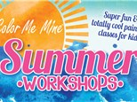 Summer Workshop June 25th to June 28th, 1pm to 4pm Daily