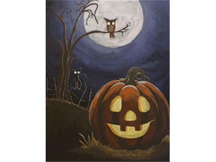 """Halloween Hill"" Canvas Class"
