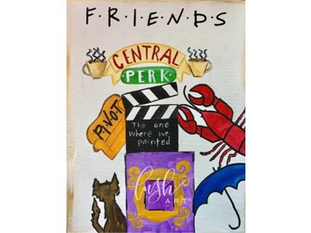 FRIENDS Paint Class & Trivia Night