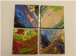 Acrylic Pour Class $45 (age 12 and up)