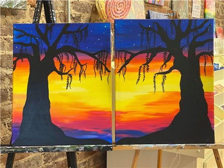 Feb. 14th Romantic Sunset Couples Canvas Class