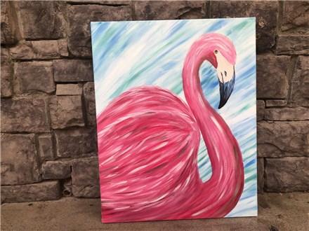 July 19th Flamingo Canvas Class