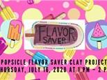 Popsicle Flavor Savor Online Zoom Class 7/16 1-2pm