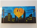 """If you're a bird, I'm a bird"" Couples Canvas Class (Adult) $60"
