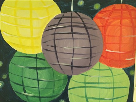 "Coffee & Canvas; ""Paper Lanterns"" Sunday, May 3rd 11 am - 1 pm"