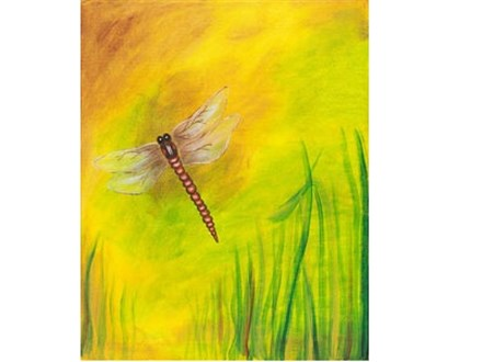 Canvas & Wine Night!  Dragonfly Dreams!  1/16/17