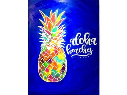 Adult Aloha Beaches Canvas Painting 07/12