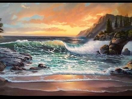 08/19 GA-OIL: Crashing Wave on Big Sur 6:30 PM $45