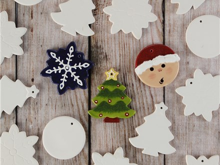 11/02/19-12/14/19 SATURDAY 10:00AM TO 11:30AM (PICK YOUR SATURDAY) CERAMIC ORNAMENT EVENT