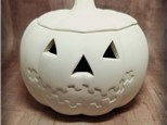 Spooky Jack-O-Lantern Box with Lid - Ready to Paint