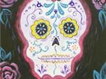 Canvas Painting - Sugar Skull - 11.01.18 - Morning Session
