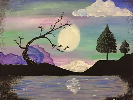 "Canvas Night, ""Midnight Moon,"" Saturday, February 27th 7-10pm"