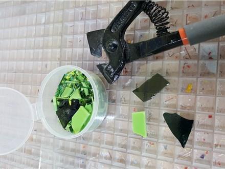 Garden Art Fused Glass Glass-April