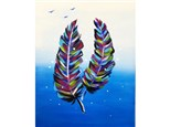 Adult Class Feather Canvas Painting 05/30