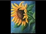 08/04 Oil: Giant Sunflower 10 AM $45