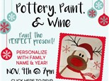 Pottery, Paint, & Wine HOLIDAY EDITION at The Pottery Patch! Ladies' Night Out!