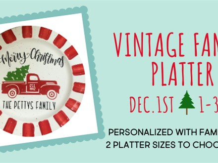 Pottery, Paint, & Wine VINTAGE FAMILY PLATTER at The Pottery Patch! Ladies' Night Out!