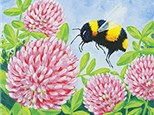 Adult Canvas - Bee and Clover - 07.24.18