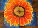 Sunflower Canvas Night!