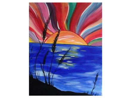 Abstract Sunset on the Lake - Paint & Sip - Oct 7