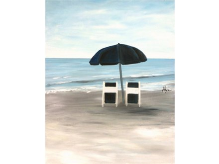 Toes in the Sand - Class for Couples and Singles - 16x20 canvas