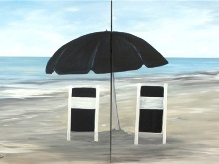 Beach Happy - Toes in the Sand - Couples and Singles - $35 each. 1 canvas per person.