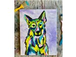 Colorful Dog Paint Class - WR