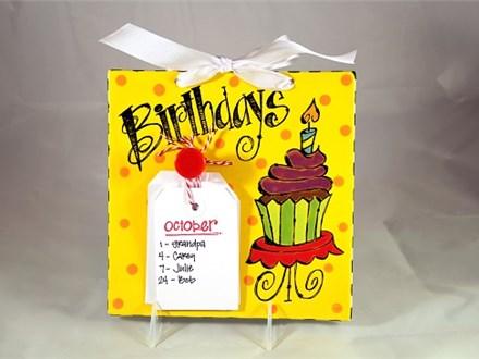 Birthday Plaque Ceramics and Cocktails